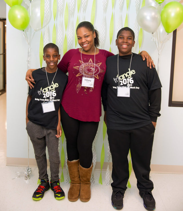 Associate Tiffany A. with her sons